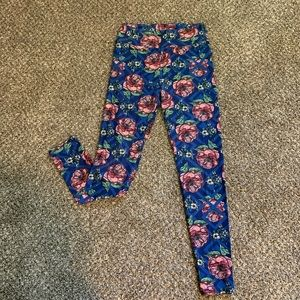 Lularoe One Size Floral Leggings